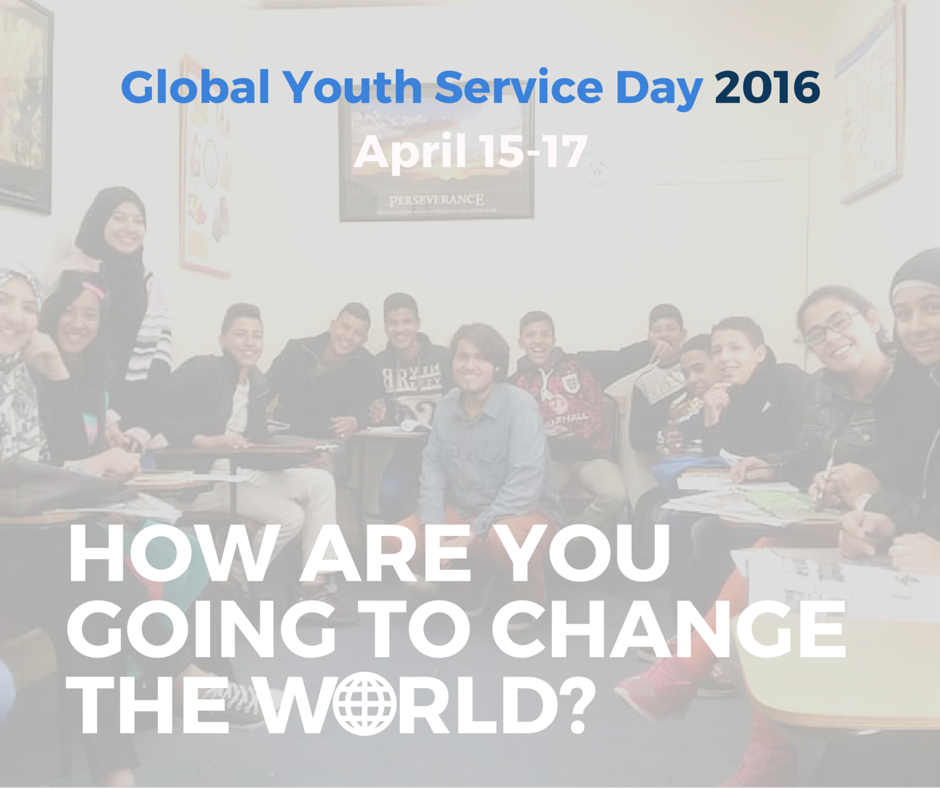 Global Youth Service Day 2016 Poster