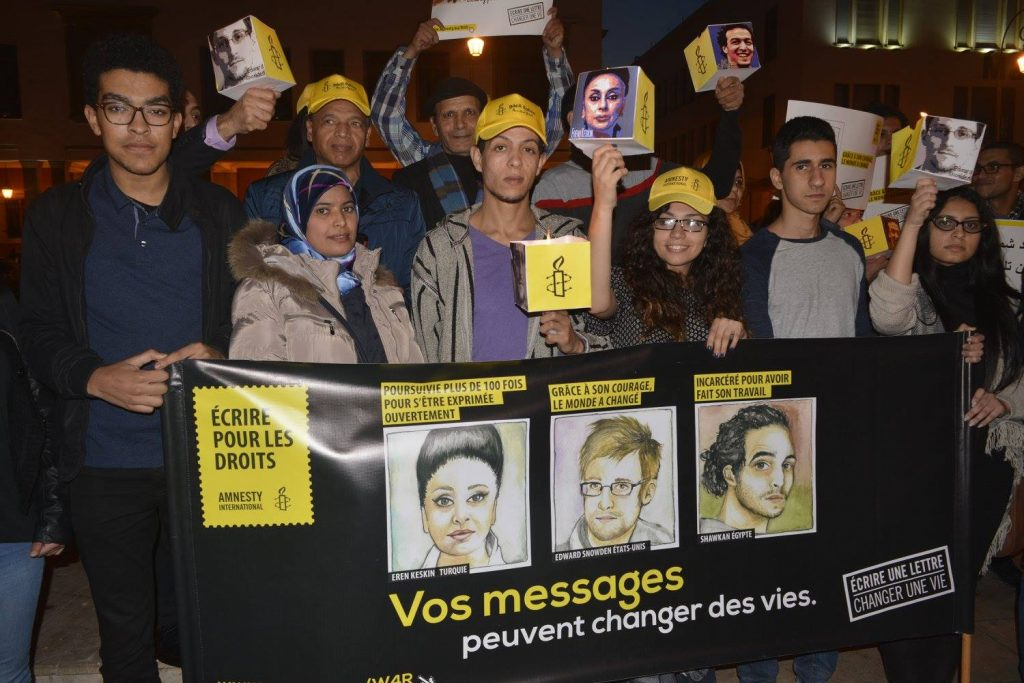 Group of volunteers from Amnesty Morocco.