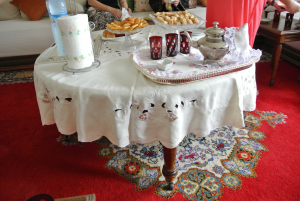 Table full of food for Eid meal