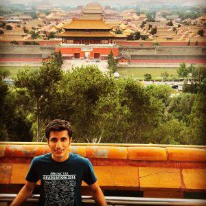 Shobhit pictured in front of Forbidden City in Beijing
