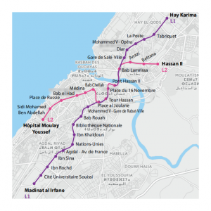 Picture of tramway map