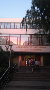 Pictured is Madison's school in Moscow, Russia.