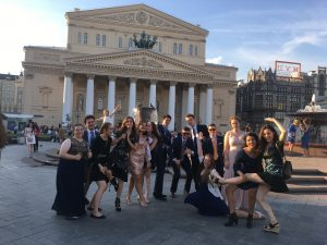 Pictured are Madison and her NSLI-Y Russia Summer 2017 cohort in formal attire.