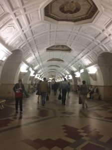 A picture of the Russian metro.