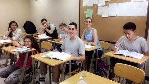 Alisa and her fellow NSLI-Y students at a morning class.