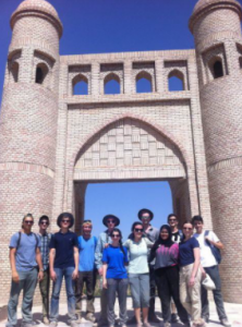 Jack (fourth from left) participated in the Persian (Tajiki) summer program in 2016.
