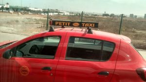 """A photo of a """"petit taxi"""", or easily accessible taxis around Rabat"""