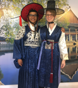 Jack (right) participated in the Korean summer program in 2017.