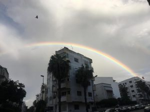 Beautiful rainbow in Morocco.