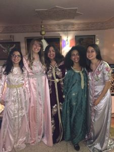 Meliha dressed up with fellow NSLI-Y friends