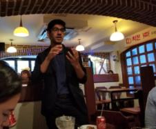 Meeting with alumnus Anand Tyagi