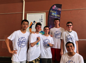NSLI-Y students at a basketball community event