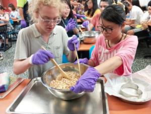 George learns how to make Taiwanese rice crispy treats