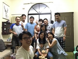 Picture of Wilson with his host family