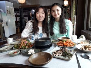 Ellie with her host mom in Korea
