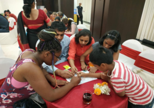NSLI-Y students meet their host families and play an ice-breaker