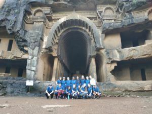 Students visit Caves outside of Pune