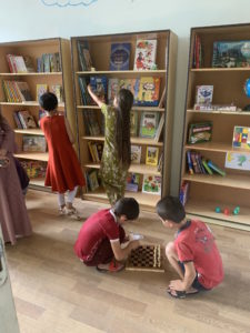 Local children welcome their new library
