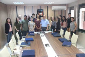 NSLI-Y Turkish participants visit the office of the Ministry of Education in Bursa.