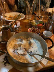 A platter of tahini