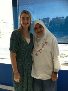 Grace with her Arabic teacher