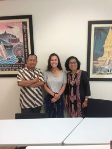 Aurelia with her NSLI-Y language teachers