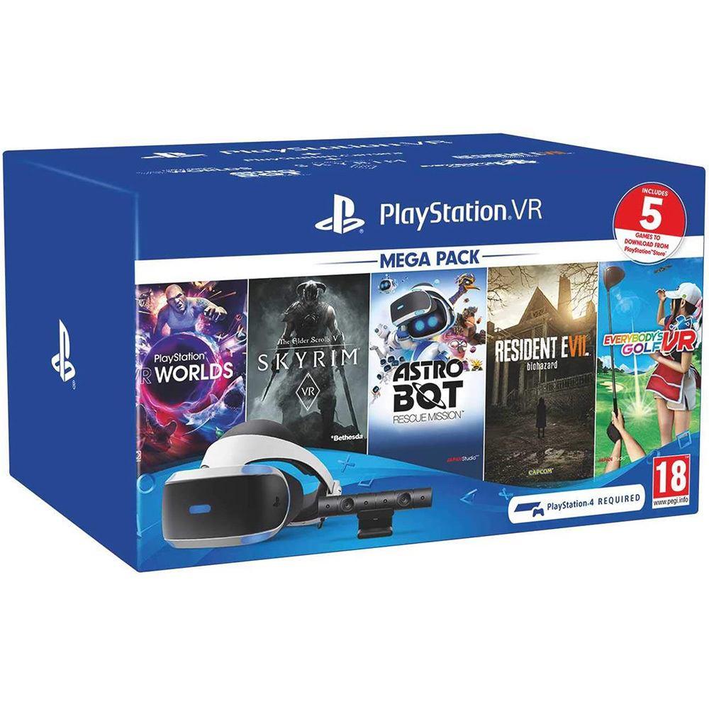Playstation VR Mega Pack - Voucher 5 jogos + Câmera - Sony