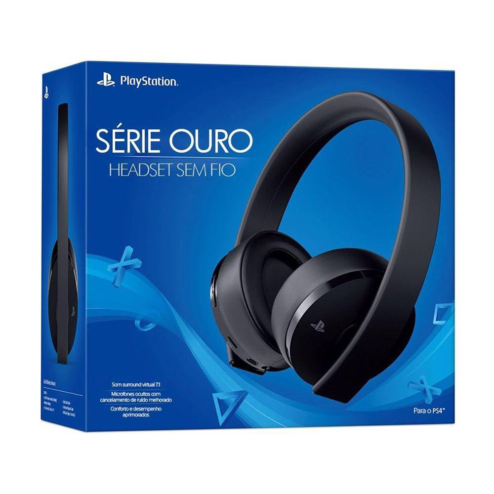 Headset Sony Serie Ouro 7.1 Wireless CUHYA-0080 PS4 e PS4 VR