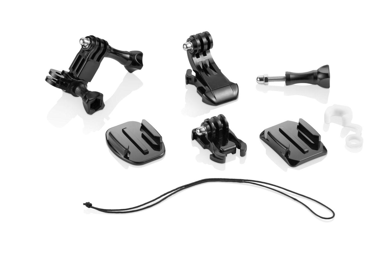Acessório para Câmera de Ação Kit de Suportes de Fácil Instalação Compatível com GoPro, Atrio e Outras Câmeras Preto Atrio - ES066