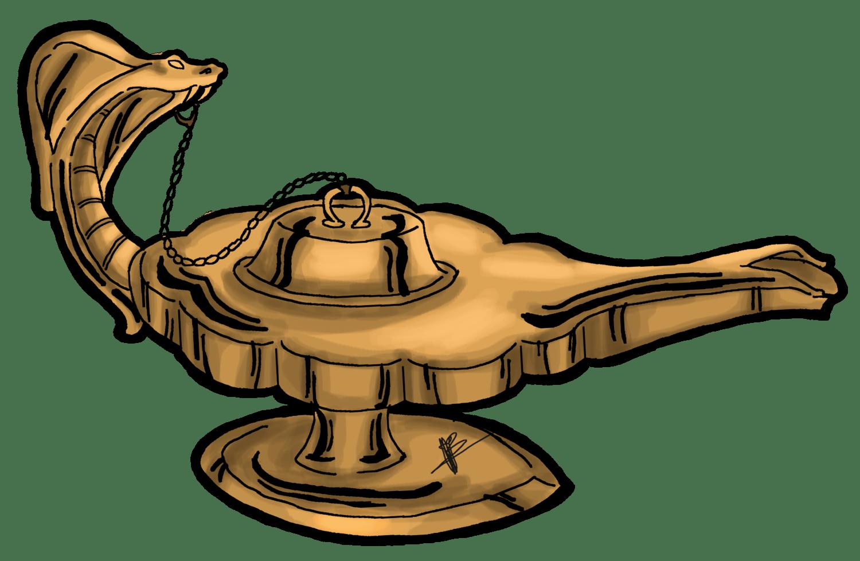 Adesivos Menmar - Lâmpada Mágica (Genie Lamp)
