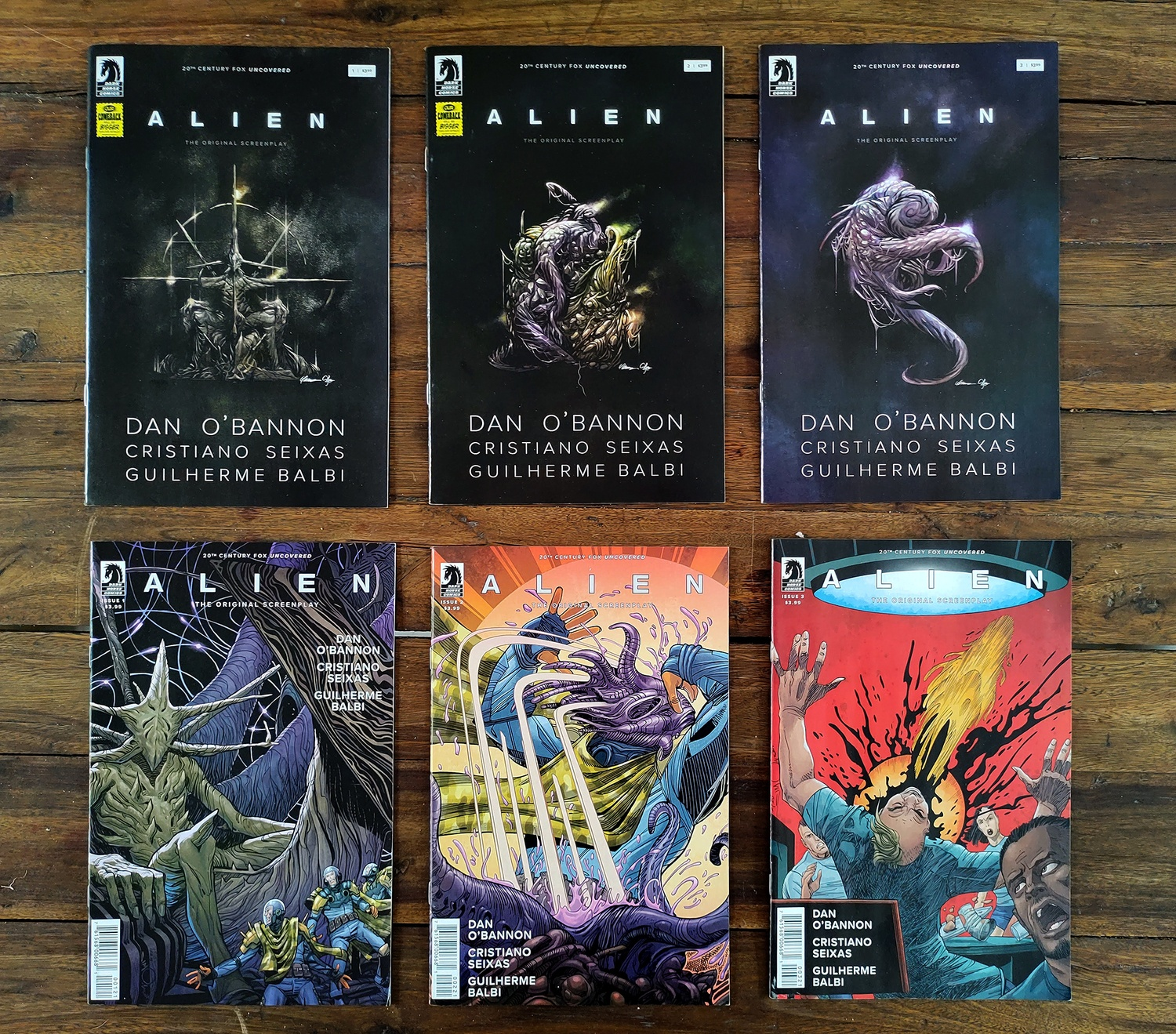 Alien The Original Screenplay: the first 3 issues!