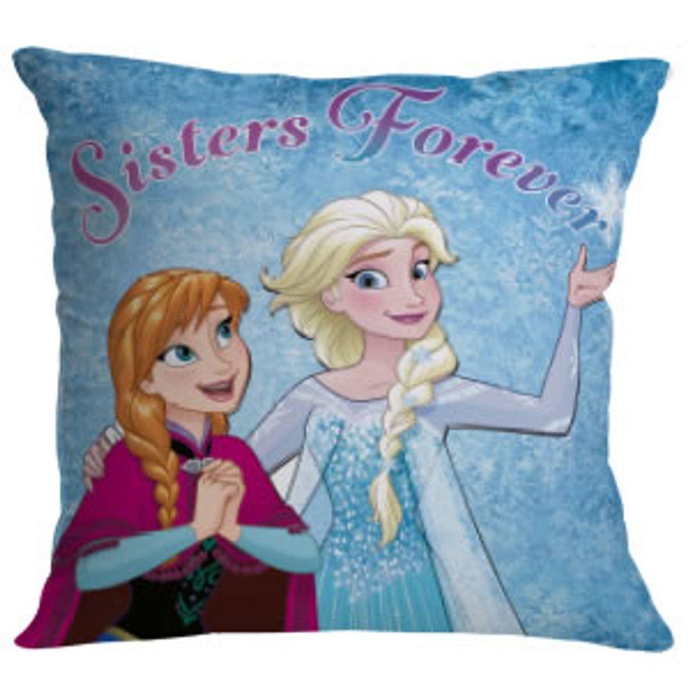 Almofada Microfibra Frozen Elsa e Anna 40x40cm