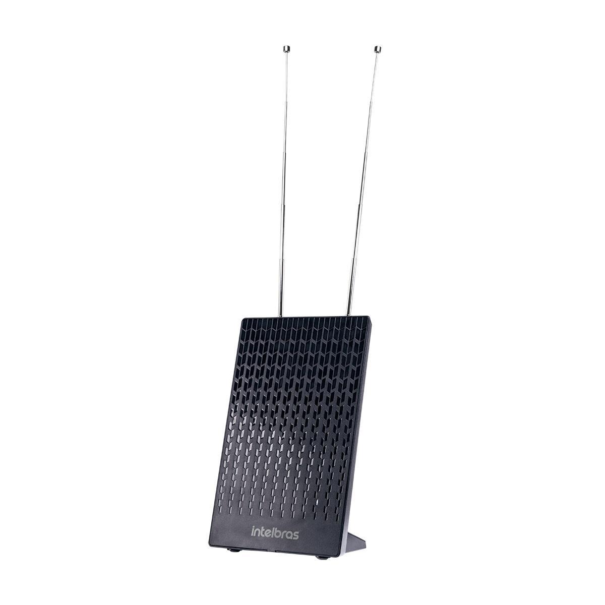 Antena de TV Interna Digital Amplificada Intelbras FM/UHF/VHF/HDTV AI 2100
