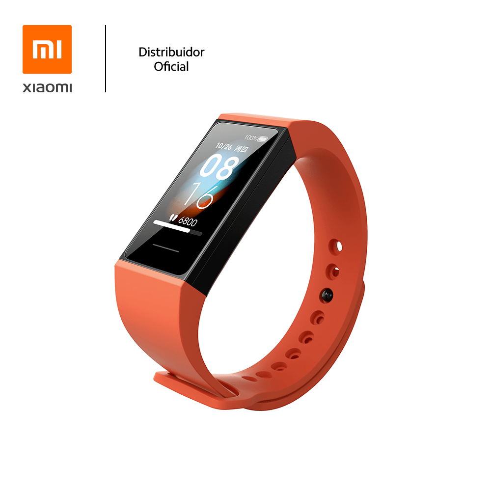 Bracelete de silicone p/ pulseira Mi band 4C Xiaomi, Laranja