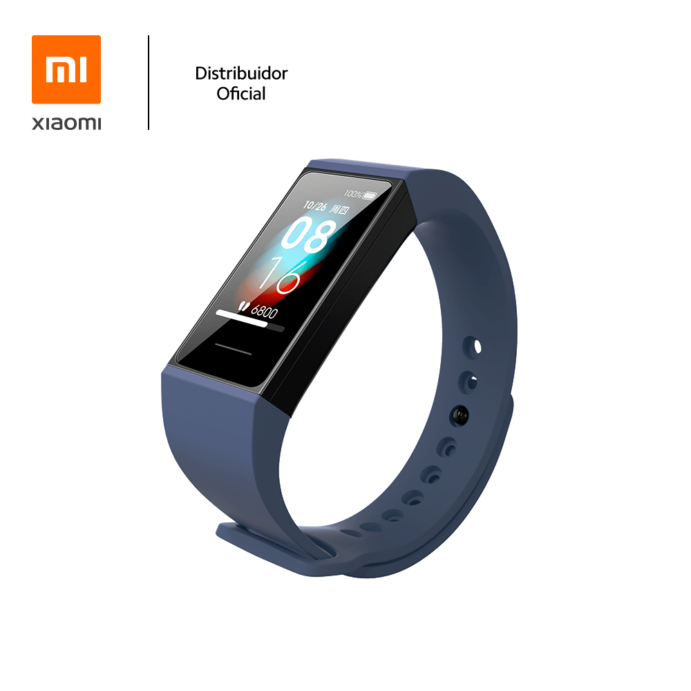 Bracelete de silicone para pulseira Mi band 4C Xiaomi, Azul