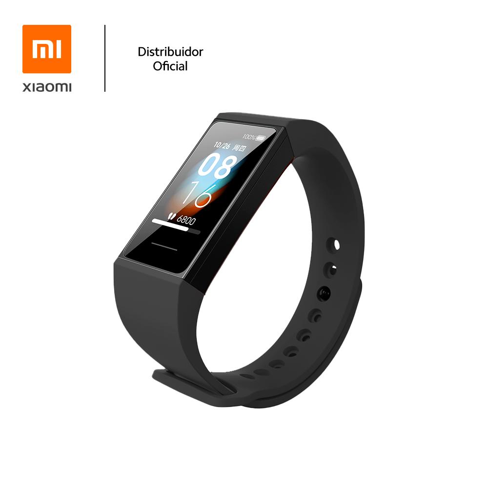 Bracelete de silicone para pulseira Mi band 4C Xiaomi, Preto