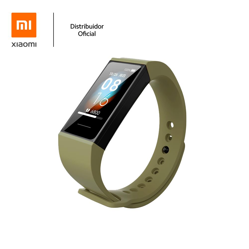Bracelete de silicone para pulseira Mi band 4C Xiaomi, Verde