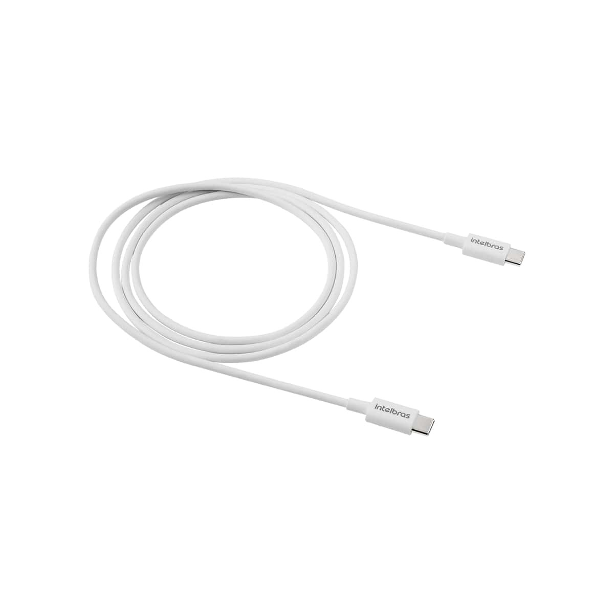 Cabo USB-C - USB-C 1,2m PVC branco Intelbras EUCC 12PB
