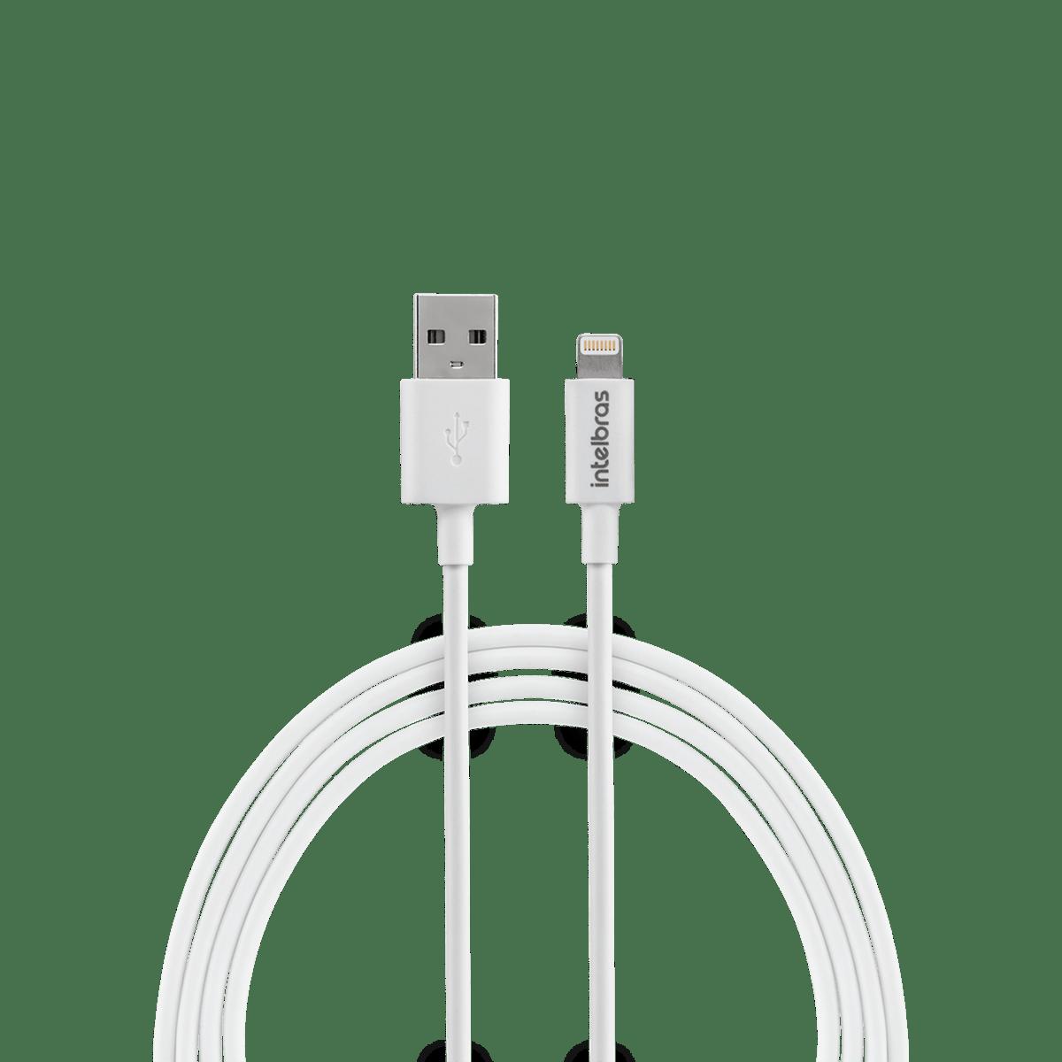 Cabo USB - Lightning 1,2m PVC branco Intelbras EUAL 12PB