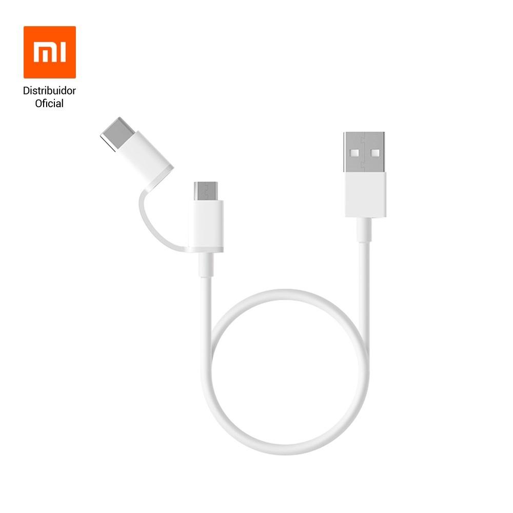 Cabo USB para Tipo C e microUSB 30cm Xiaomi