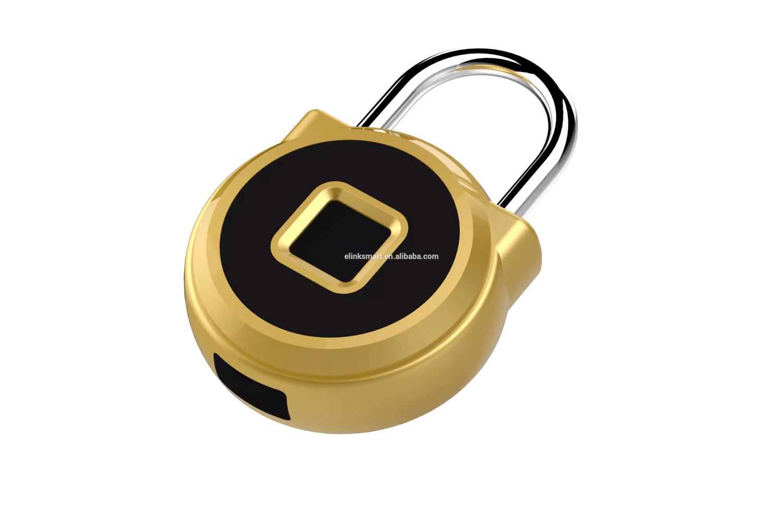 Cadeado Digital Inteligente Dourado