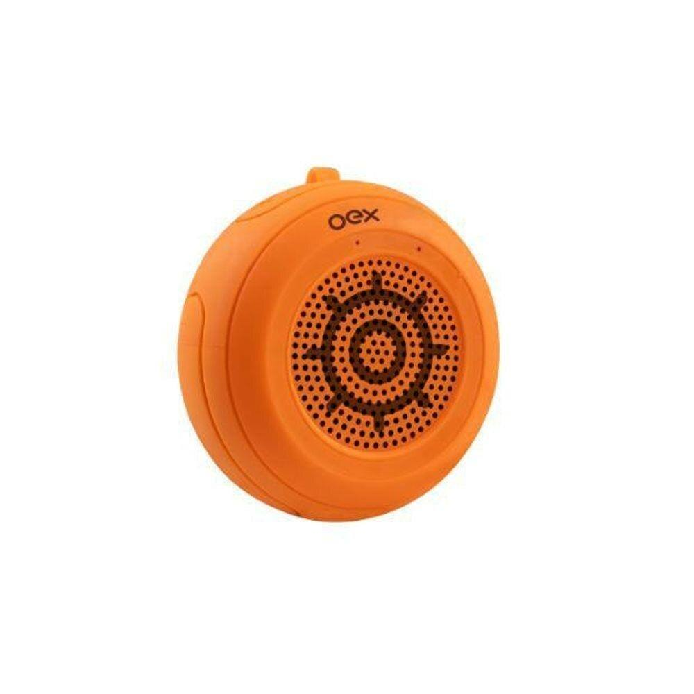 Caixa de Som a Prova D'Água OEX Speaker Float SK414 10W Laranja com Microfone Entrada Micro SD