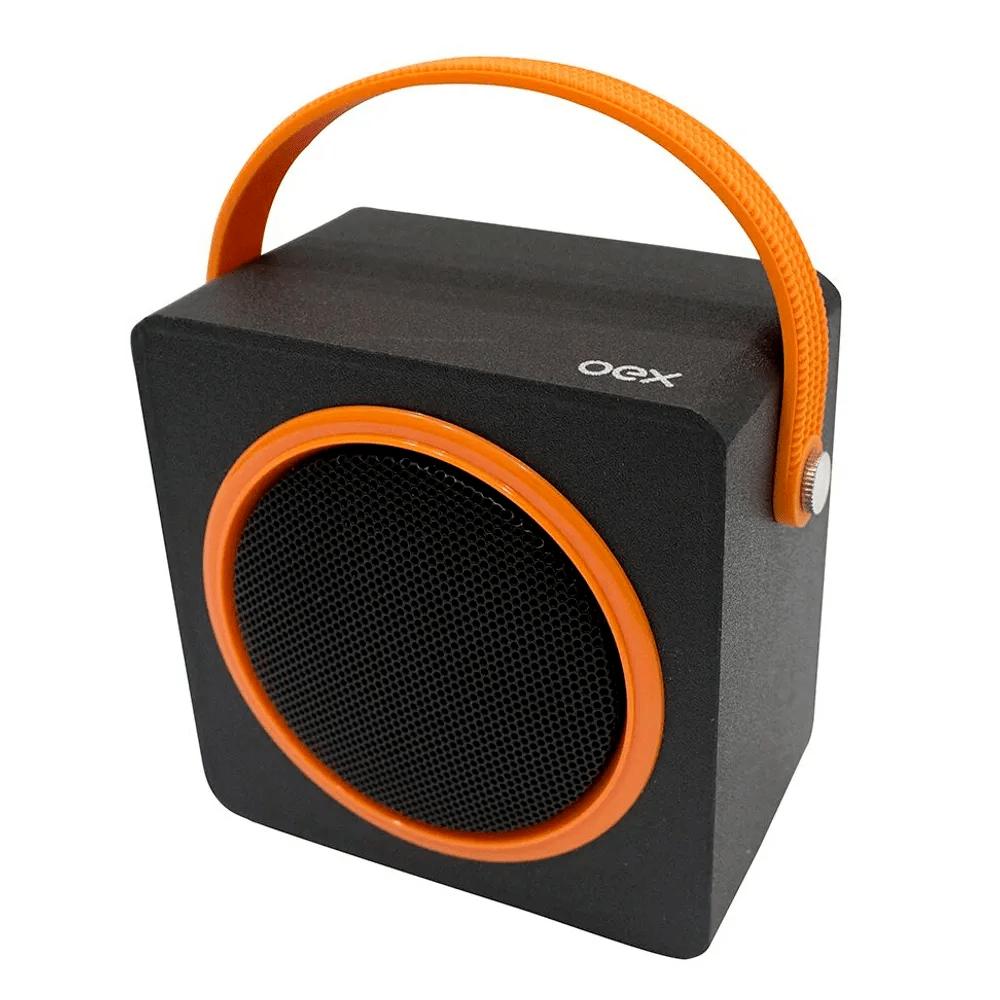 Caixa de Som Bluetooth Color Box OEX Laranja