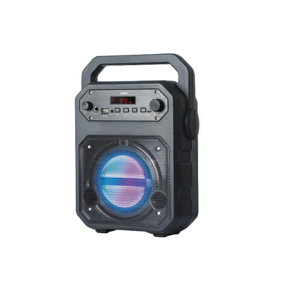 Caixa de Som Bluetooth OEX Speaker Fun SK415 90W Preto Função Karaokê com Alça