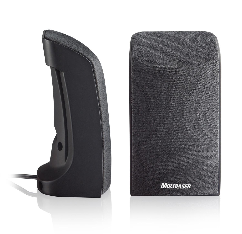 Caixa de Som 2.0 1W USB Preta Multilaser - SP093