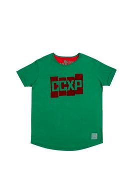 Camiseta CCXP Blocks Verde