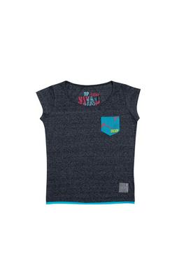 Camiseta CCXP Pocket Azul Feminina