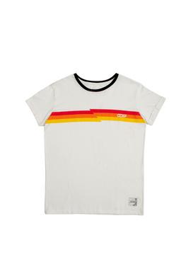 Camiseta Color Stripes Branca