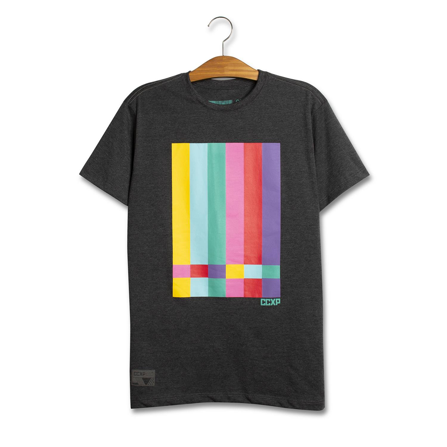 Camiseta TV Stripes Chumbo