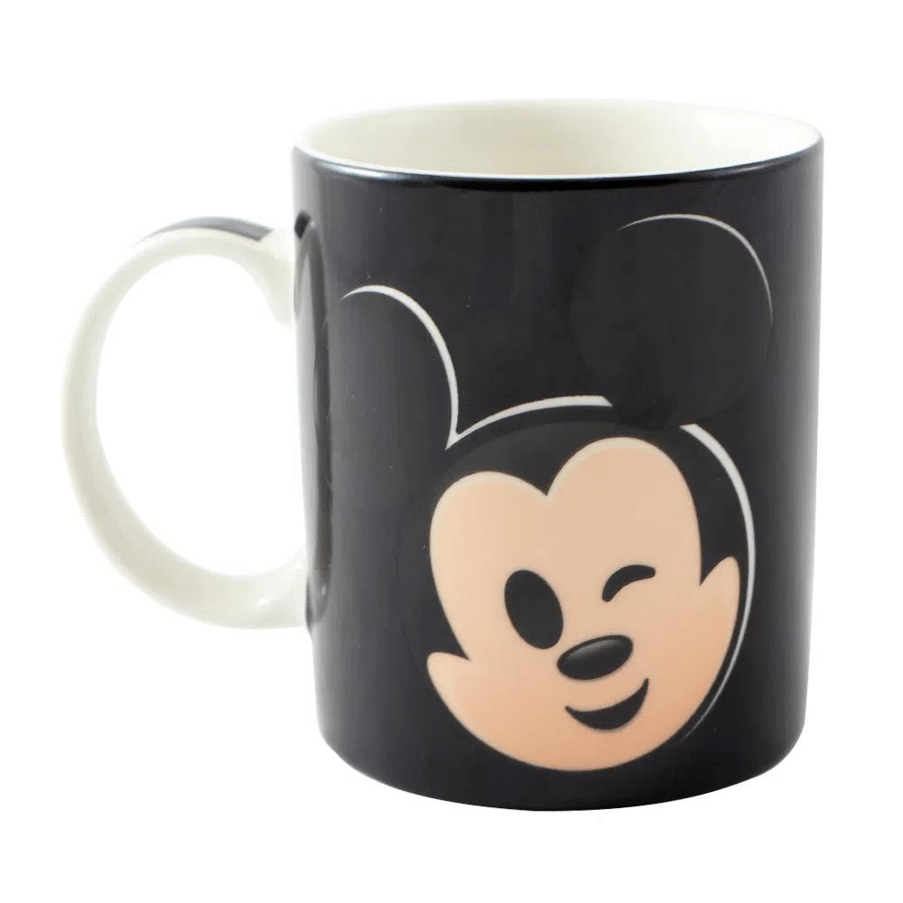 Caneca Magic Mickey Mouse Disney 300ml Emoji Cerâmica